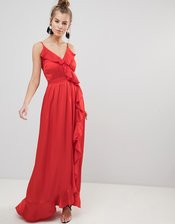 Little Mistress Red Maxi Dress