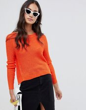 Glamorous cropped sweater-Orange