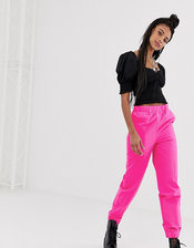 COLLUSION nylon pants-Pink