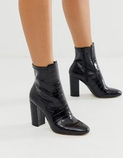 ALDO Aurella block heel boot-Black