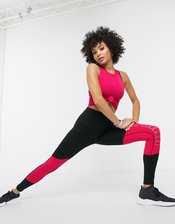 Puma logo leggings in pink