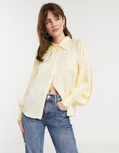 In Wear Camelia volume sleeve shirt in yellow-Cream